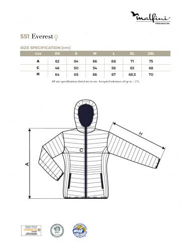 2Adler MALFINIPREMIUM Kurtka damska Everest 551 formula red
