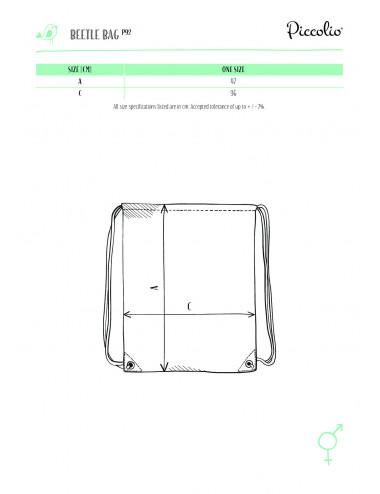 2Adler PICCOLIO Plecak unisex Beetle P92 naturalny