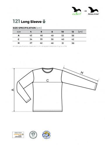2Adler MALFINI Koszulka dziecięca Long Sleeve 121 czerwony