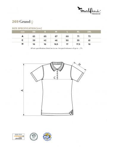 2Adler MALFINIPREMIUM Koszulka polo damska Grand 269 biały