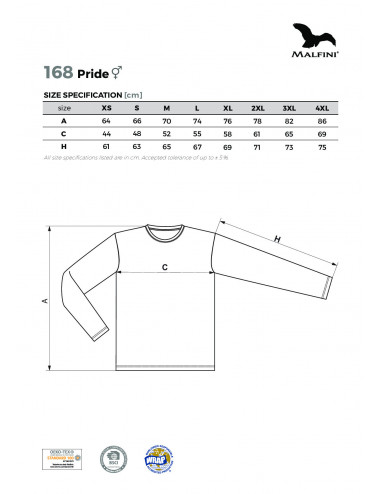 2Adler MALFINI Koszulka unisex Pride 168 czarny
