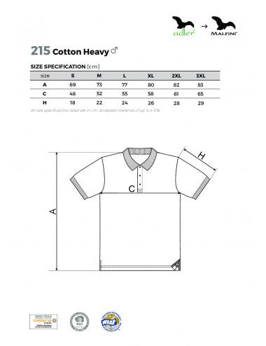 2Adler MALFINI Koszulka polo męska Cotton Heavy 215 zieleń butelkowa