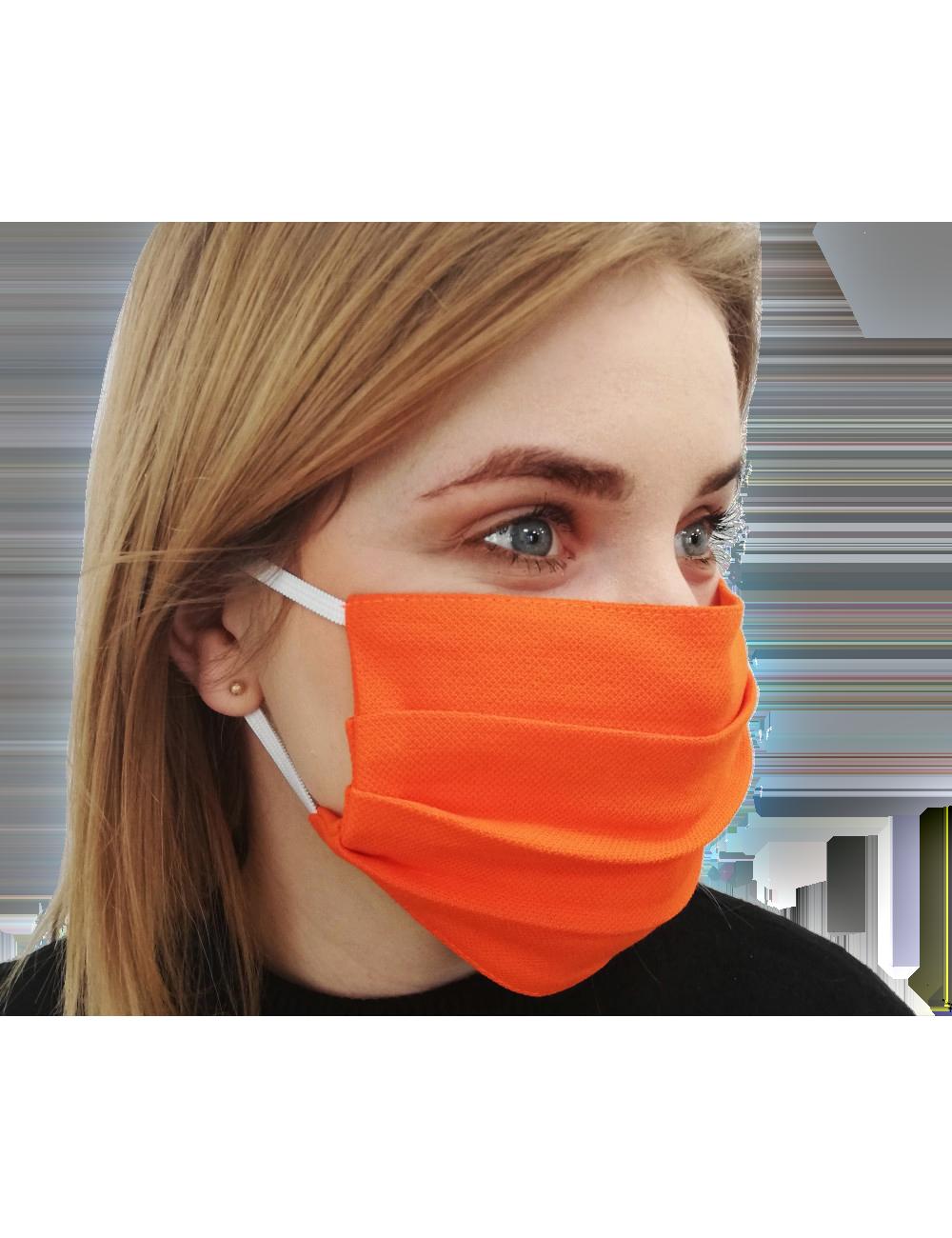 Maska Maseczka ochronna bawełniana na usta i nos typu Streetwear pomarańcz