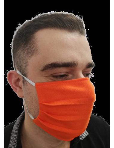 2Maska Maseczka ochronna bawełniana na usta i nos typu Streetwear pomarańcz