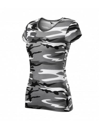 Adler MALFINI Koszulka damska Camo Pure C22 camouflage gray