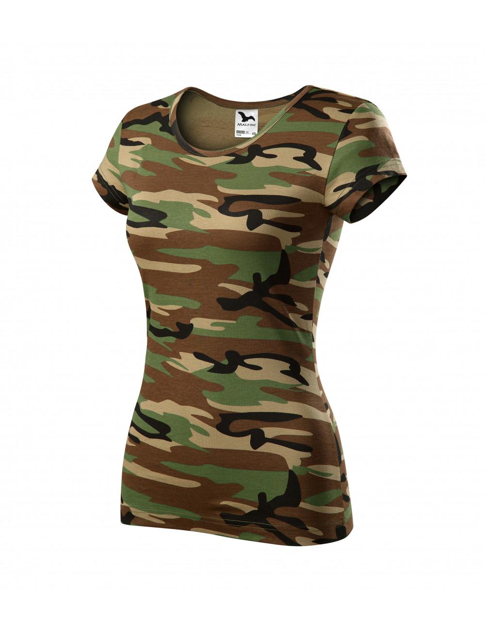 Adler MALFINI Koszulka damska Camo Pure C22 camouflage brown
