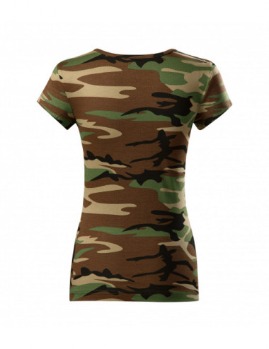 2Adler MALFINI Koszulka damska Camo Pure C22 camouflage brown