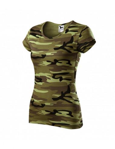 2Adler MALFINI Koszulka damska Camo Pure C22 camouflage green