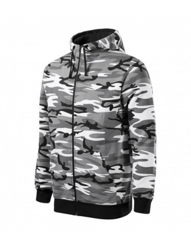 Adler MALFINI Bluza męska Camo Zipper C19 camouflage gray