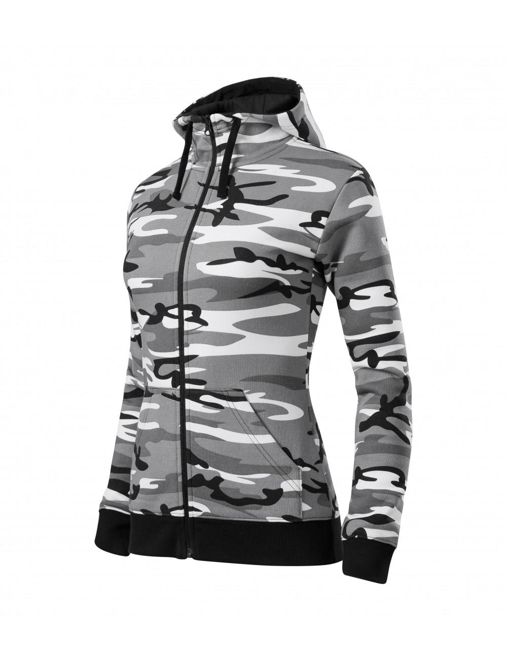 Adler MALFINI Bluza damska Camo Zipper C20 camouflage gray