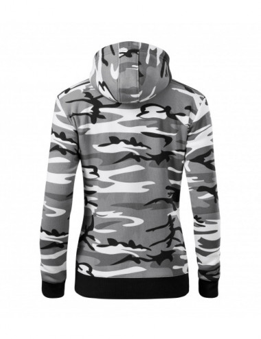 2Adler MALFINI Bluza damska Camo Zipper C20 camouflage gray