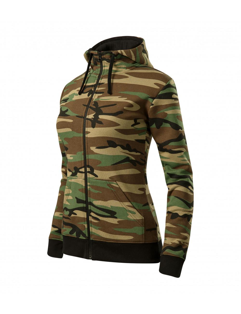 Adler MALFINI Bluza damska Camo Zipper C20 camouflage brown