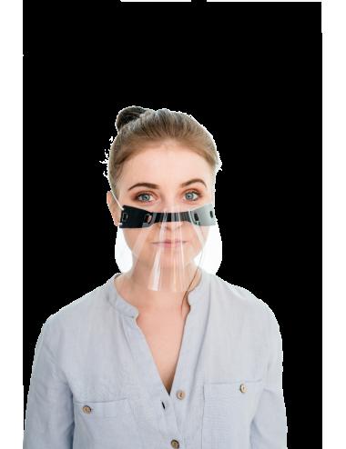 2Mini przyłbica ochronna na nos i usta PET osłona twarzy