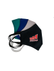 2Maska Maseczka Damska profilowana bawełniana czarna z twoim logo full color