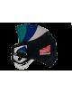 2Maseczka Męska profilowana bawełniana granatowa z twoim logo full color maska