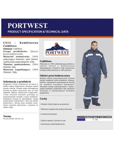 2Kombinezon COLDSTORE CS-12 idealny do pracy w mroźni lub chłodni. Ochrona do -40 st.C!