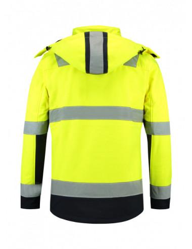 2Adler TRICORP Softshell kurtka unisex Bi-color EN ISO 20471 Softshell T52 fluorescencyjny żółty