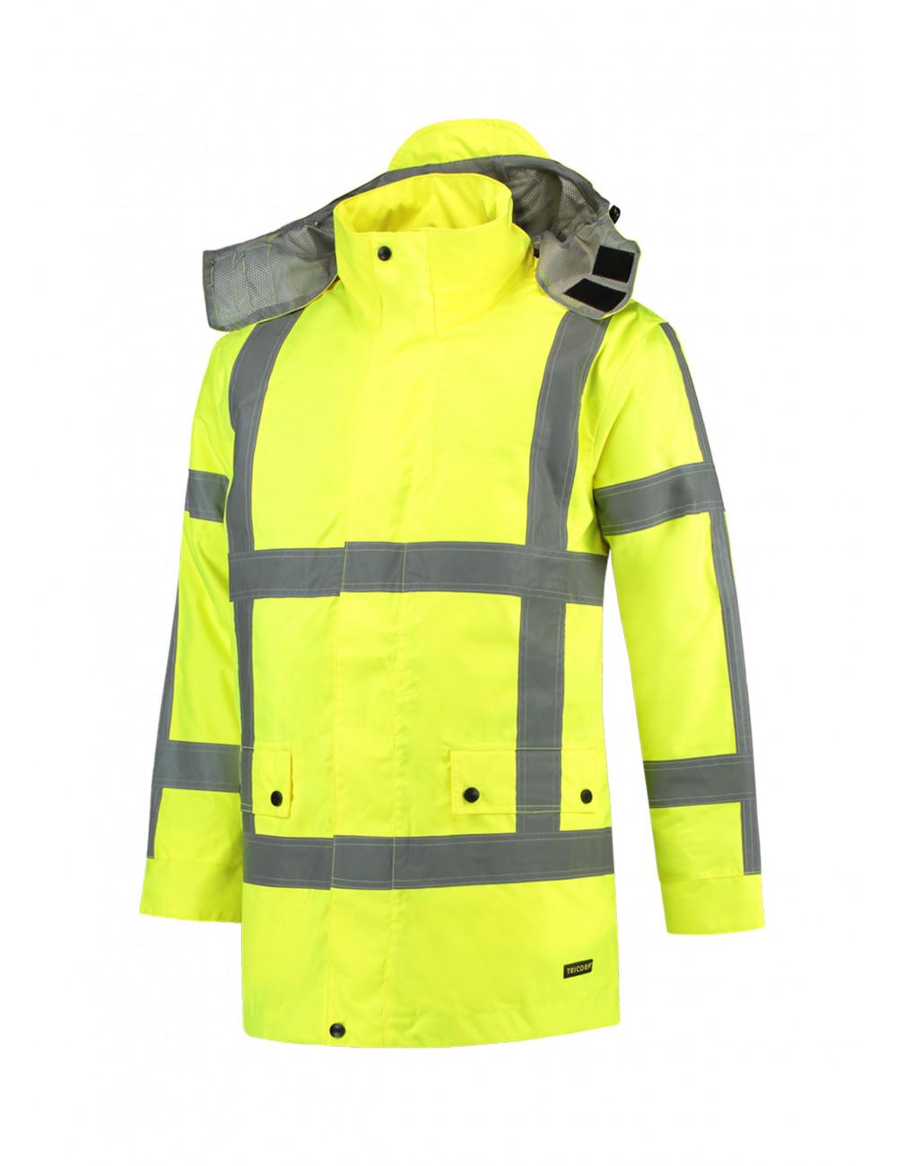 Adler TRICORP Kurtka robocze unisex RWS Parka T50 fluorescencyjny żółty