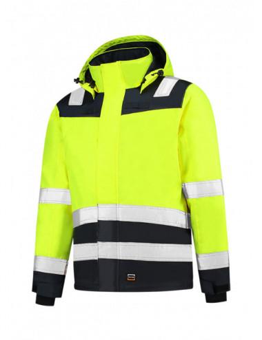 Adler TRICORP Kurtka robocze unisex Midi Parka High Vis Bicolor T51 fluorescencyjny żółty