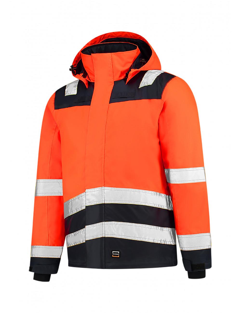 Adler TRICORP Kurtka robocze unisex Midi Parka High Vis Bicolor T51 fluorescencyjny pomarańczowy