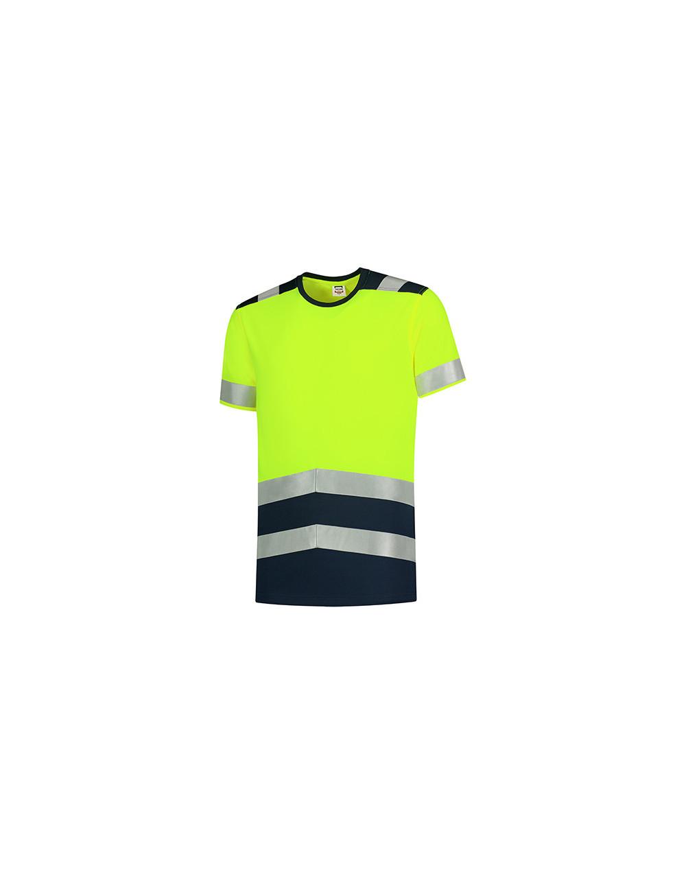 Adler TRICORP Koszulka unisex T-Shirt High Vis Bicolor T01 fluorescencyjny żółty