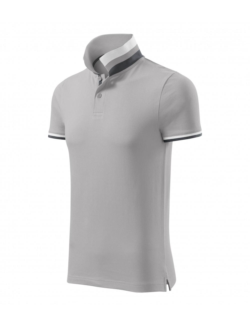 Adler MALFINIPREMIUM Koszulka polo męska Collar Up 256 silver gray