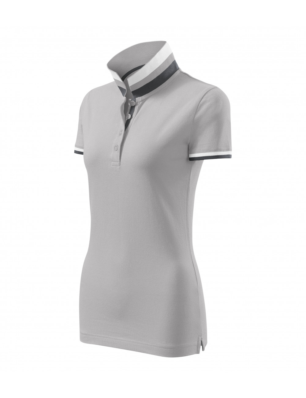 Adler MALFINIPREMIUM Koszulka polo damska Collar Up 257 silver gray