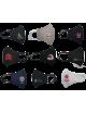 2Maseczka Damska profilowana bawełniana maska ochronna grafitowa z twoim  logo full color