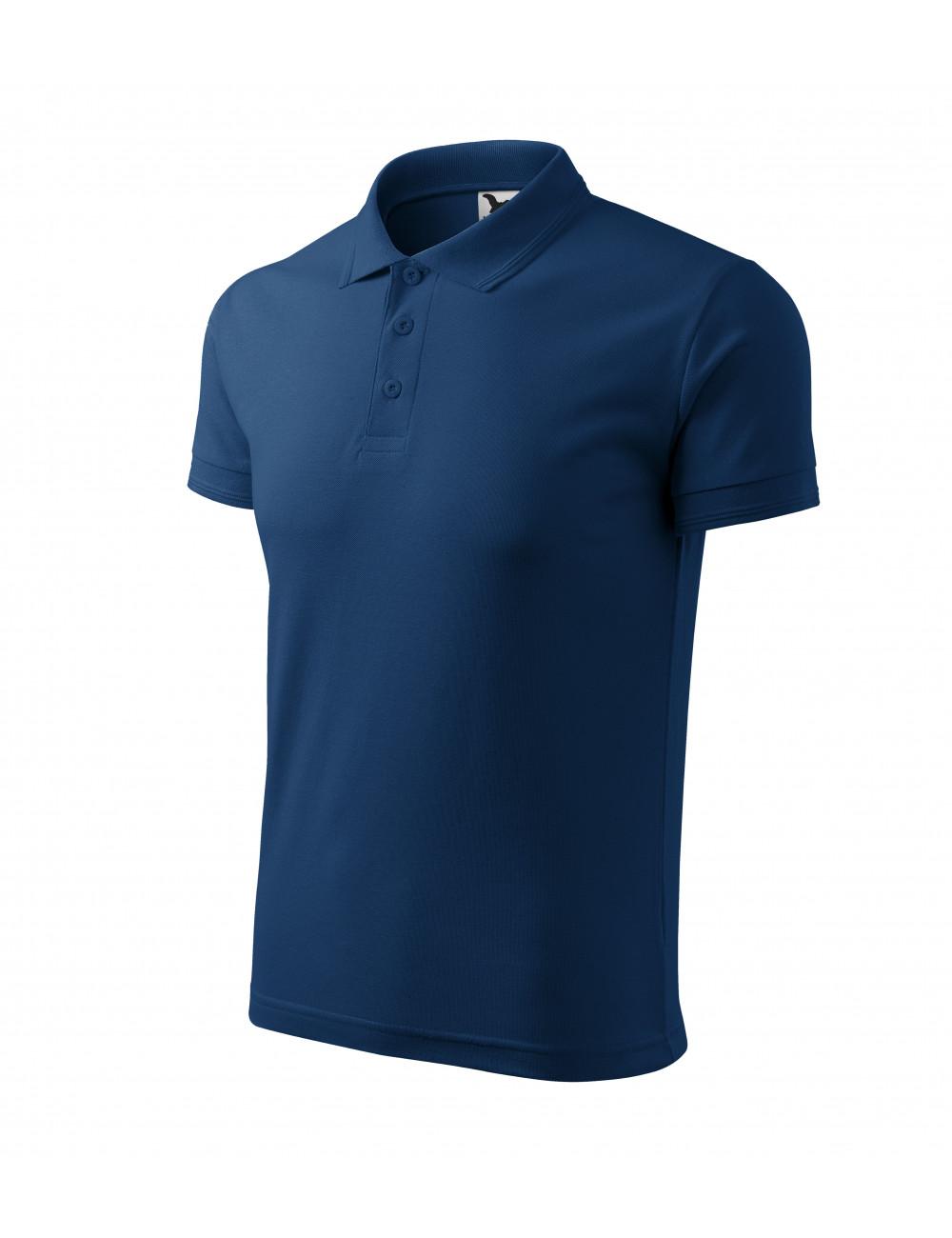 Adler MALFINI Koszulka polo męska Pique Polo 203 ciemnoniebieski