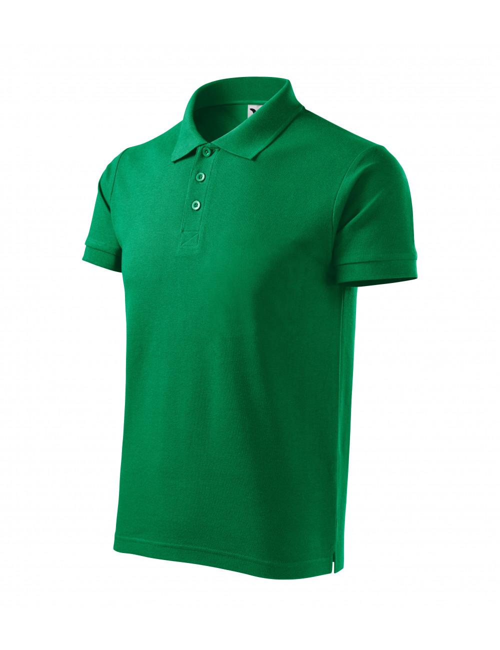 Adler MALFINI Koszulka polo męska Cotton Heavy 215 zieleń trawy