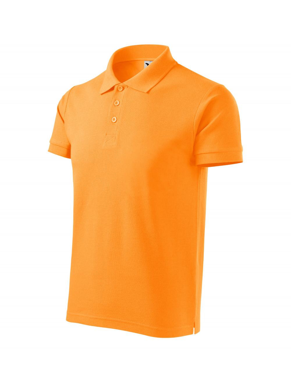 Adler MALFINI Koszulka polo męska Cotton Heavy 215 mandarynkowy