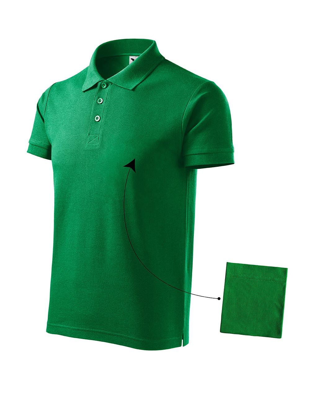 Adler MALFINI Koszulka polo męska Cotton 212 zieleń trawy