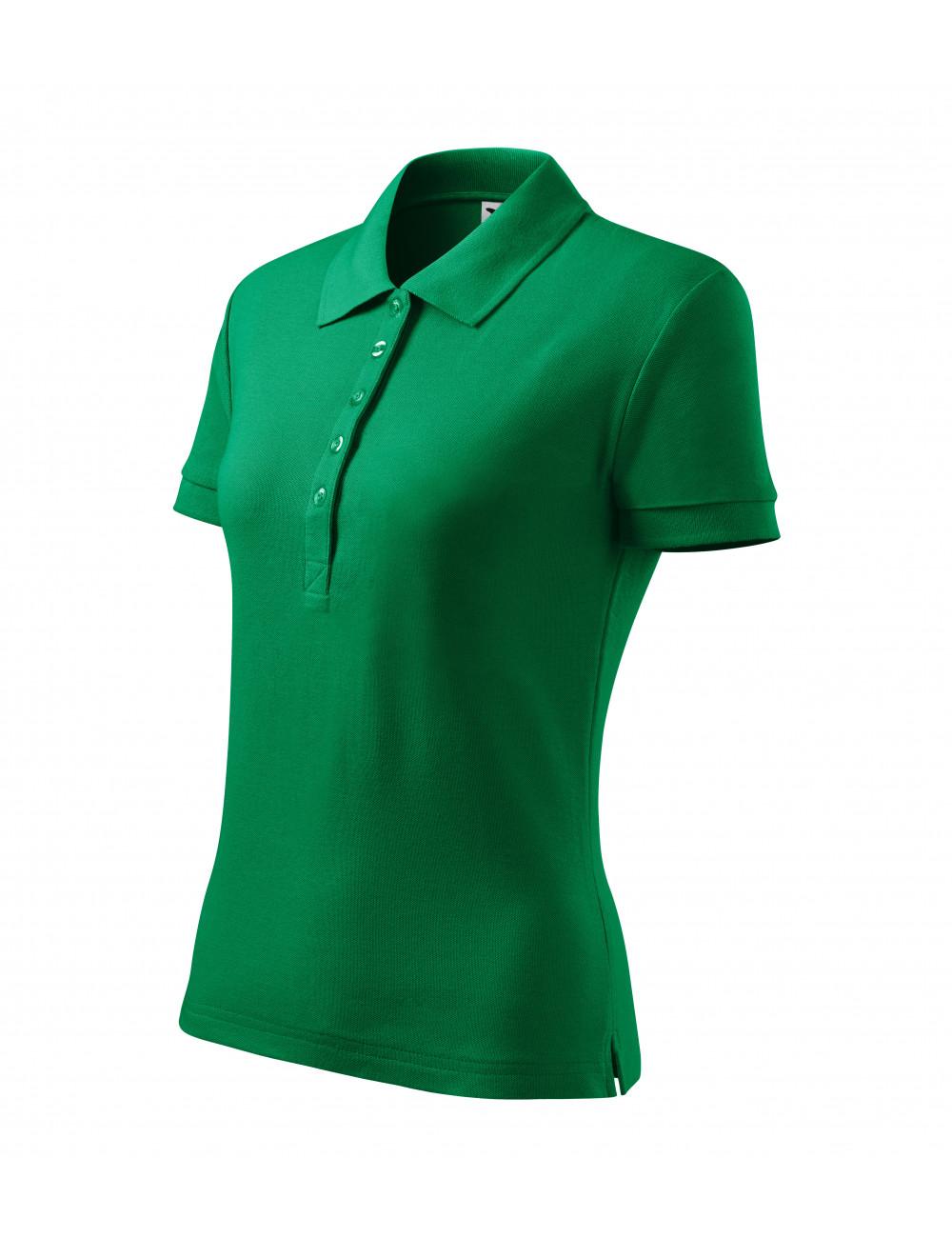 Adler MALFINI Koszulka polo damska Cotton Heavy 216 zieleń trawy