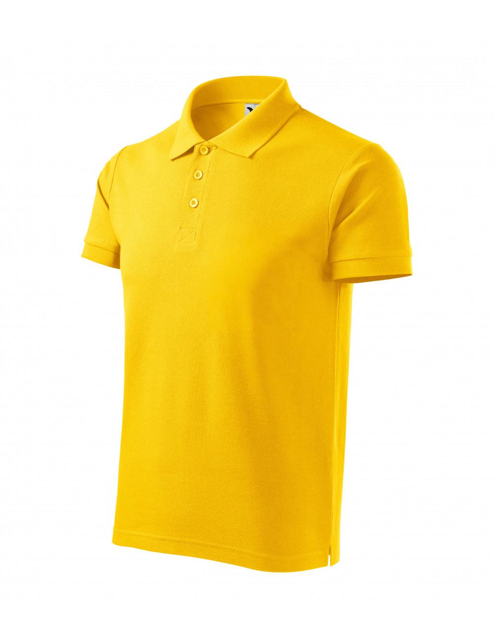 Adler MALFINI Koszulka polo męska Cotton Heavy 215 żółty