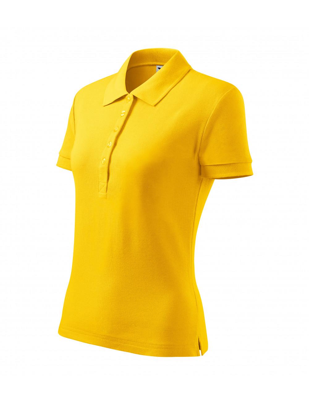 Adler MALFINI Koszulka polo damska Cotton Heavy 216 żółty