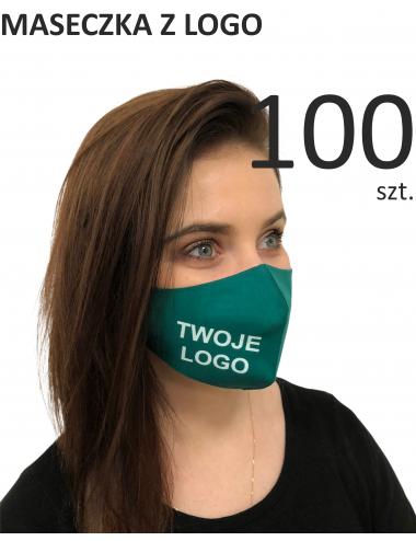 Maska ochronna Maseczki Bawełniane reklamowe 100 sztuk profilowane z logo nadruk