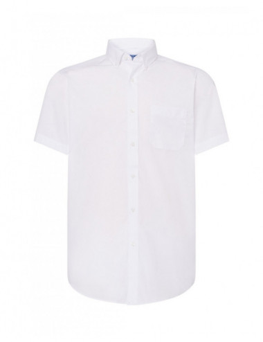 JHK Koszula męska SHA POP SS WH White