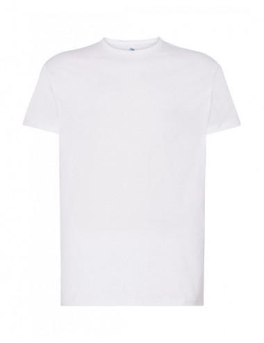 JHK Koszulka męska TSR 160 DGP-DTG Druk cyfrowy WH White
